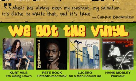 we got vinyl
